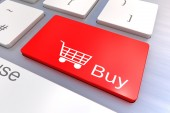 Buy keyboard button — Stock Photo