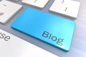 Blog keyboard button — Stock Photo
