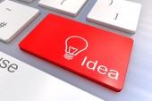Idea keyboard button — Stock Photo