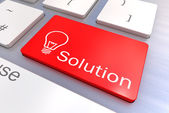 Solution keyboard button — Stock Photo