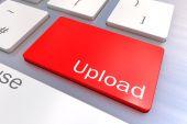 Upload keyboard button — Stock Photo