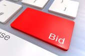 Bid keyboard button — Stock Photo