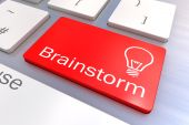Brainstorm keyboard button — Foto Stock