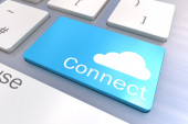 Cloud Connection keyboard button — Stock Photo