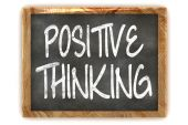 Positive Thinking Concept Blackboard — Stock Photo