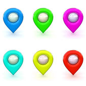 3d Rendered Map Icon Selection — Stock Photo
