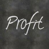 Hand Writing Profit — Foto de Stock