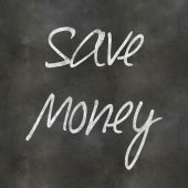 Hand Writing Save Money — Fotografia Stock