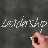 Blackboard Leadership — Stock Photo