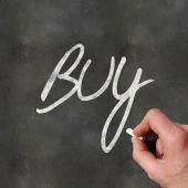 Hand Writing Buy — Stock Photo