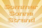 Summer, sun, beach — Stock Photo