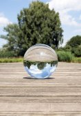 Glass sphere picture — Stock Photo