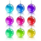 Color christmas balls set. — Wektor stockowy