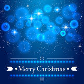 Blue Christmas background with flares on the sky. — Stock Vector