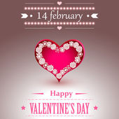 14 February Valentines Day — Stock Vector