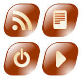Media player buttons set — Stock Vector