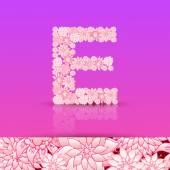 Alphabet Letter E — Stock Vector