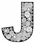 Alphabet  Letter J — Stock Vector