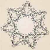 Ornamental rosette or snowflake — Stock Vector