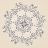 观赏莲座丛或雪花 — 图库矢量图片