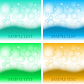 Soap boobles and water backgrounds — Stock Vector