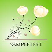Цветочный фон дизайна — Cтоковый вектор