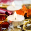 Christmas tea light candle — Stock Photo #58995273