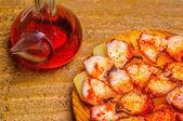 Bläckfisk och vin jug — Stockfoto