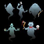 Cadılar bayramı hayalet kümesi — Stok Vektör