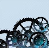 Gears dark blue01 — Vetorial Stock