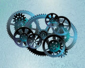 Gears dark blue02 — Vetorial Stock