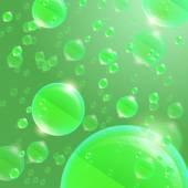 Verde de esfera de vidrio — Vector de stock