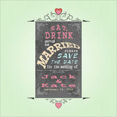 Marriage banner — Stockvector