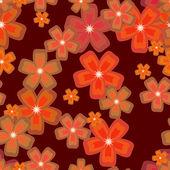 Flowers seamless03 — Vettoriale Stock