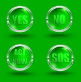 Yes-no — Stock Vector