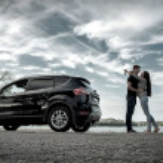 Happy couple near new car — Stock Photo #54461983