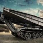 Military tank under sky — Stock Photo #54462483