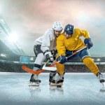 Ice hockey player on ice — Stock Photo