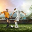 Two football players with ball — Stock Photo #54462737
