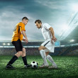 Two football players with ball — Stock Photo #54462771