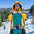 Man in goggles with snowboard — Stock Photo #54462913