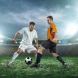 Two football players with ball — Stock Photo #54462919