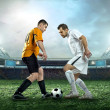 Two football players with ball — Stock Photo #54463289