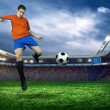 Football player in action — Stock Photo #54463415
