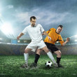 Two football players with ball — Stock Photo #54464245
