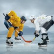 Ice hockey players on the ice — Stock Photo #54464301