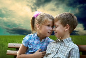 Loving brother and sister — Stock Photo