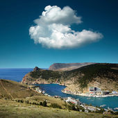 山と海の風景 — ストック写真