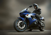 Homme sur moto — Photo