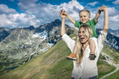 Happiness Mother and son — Stock Photo